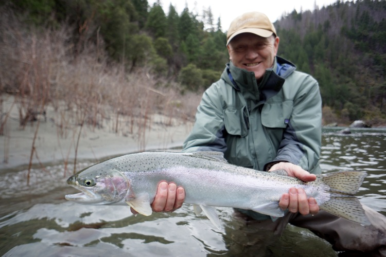 Winter Steelhead on the Trinity River are big and bright and they are here!