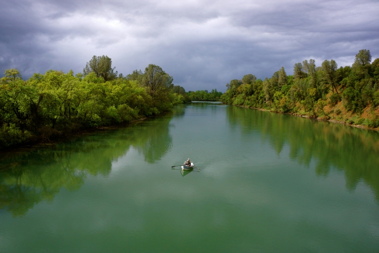 Drift boats on the Lower Sacramento River are the perfect vehicle for trout fishing