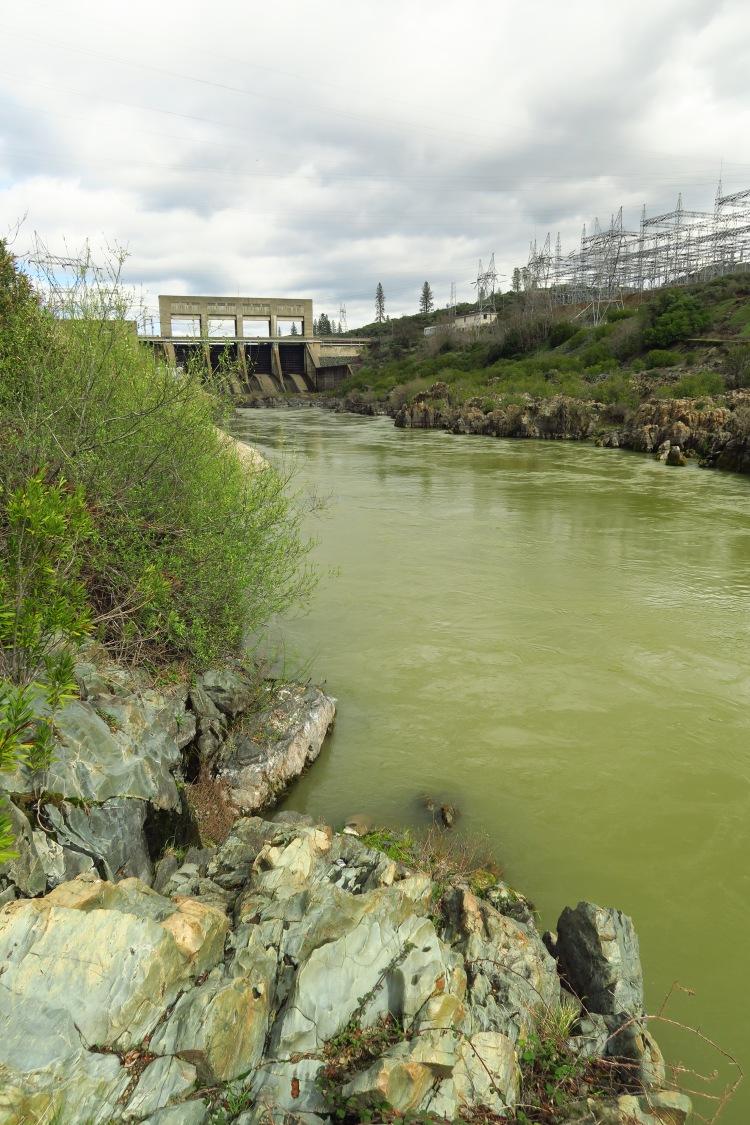 Below Keswick Dam and Sacramento River dirty water