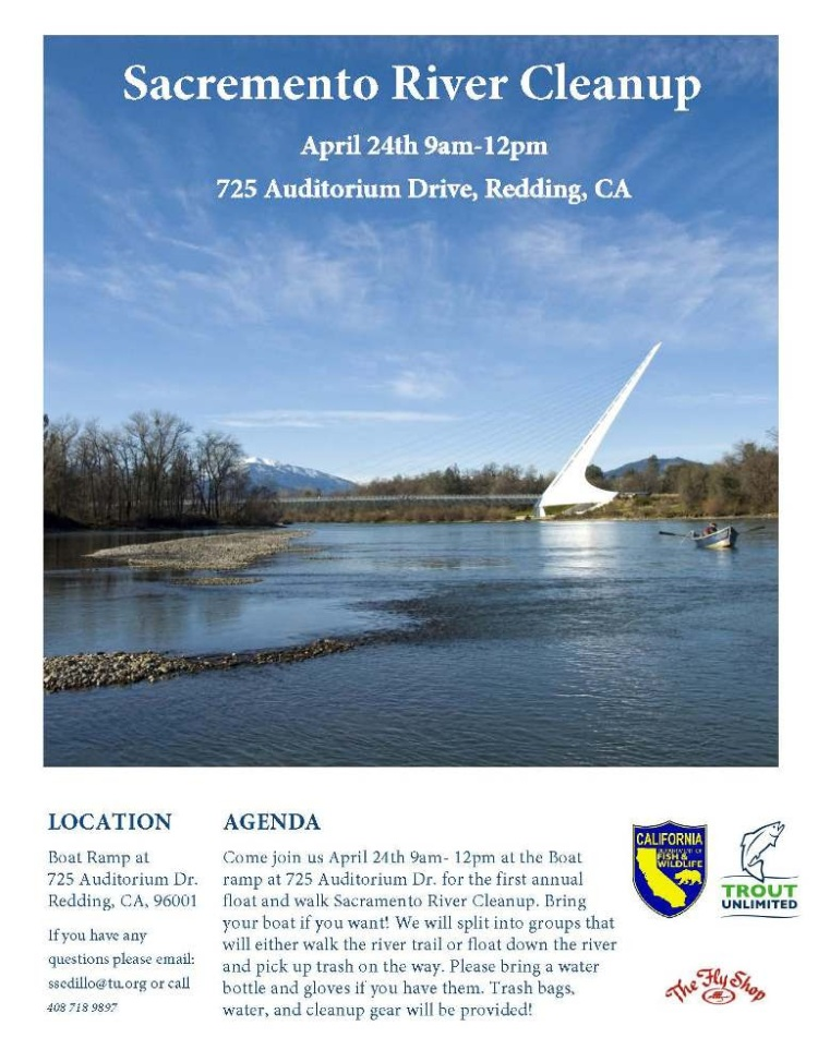 Sacramento River Clean up in Redding CA