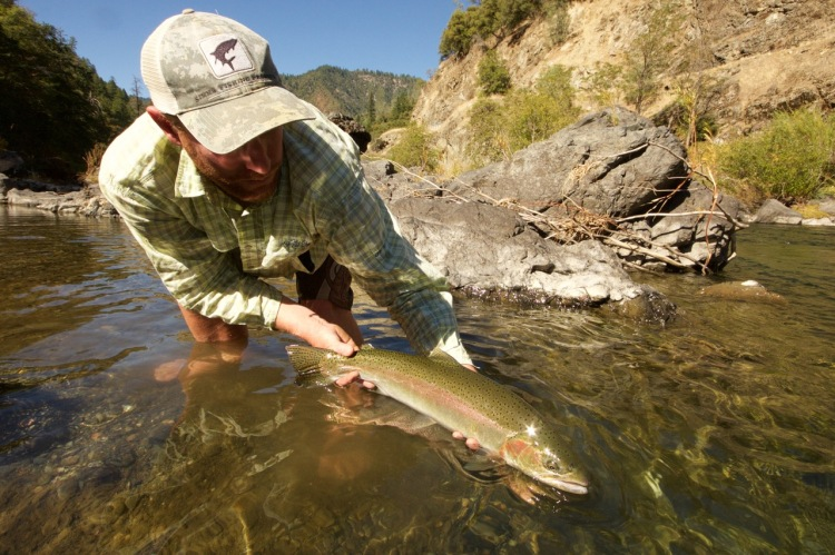fly fishing guide with steelhead