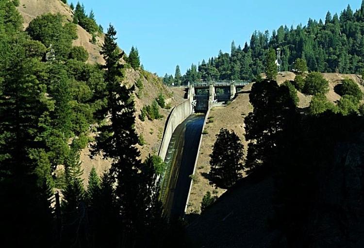 McCloud reservoir spillway