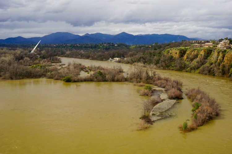 The Lower Sacramento River at 45,000cfs
