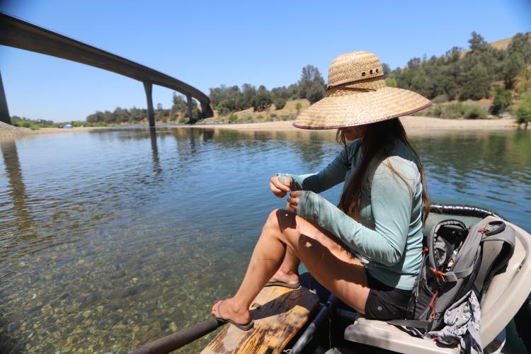 fly fishing the Yuba River near highway 20